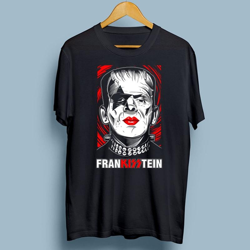 FRANKISSTEIN t shirt design graphic