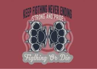 Knuckle Fight tshirt design for sale