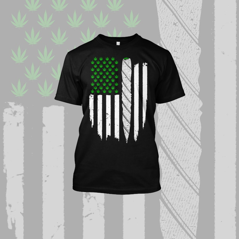 Grass Flag American vector t-shirt designs for merch by amazon