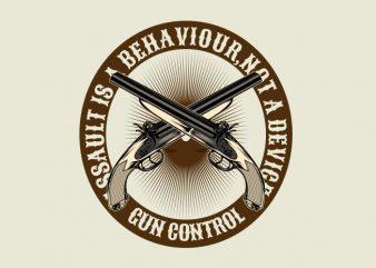 The Gun Control t shirt designs for sale