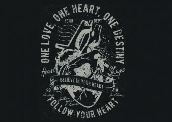 Heart t shirt design for sale