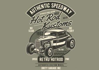 Hot Rod Kustoms print ready shirt design