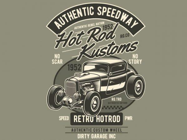 Hot Rod Kustoms graphic t shirt