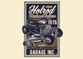 Hot Rod Kustoms Kulture graphic t shirt
