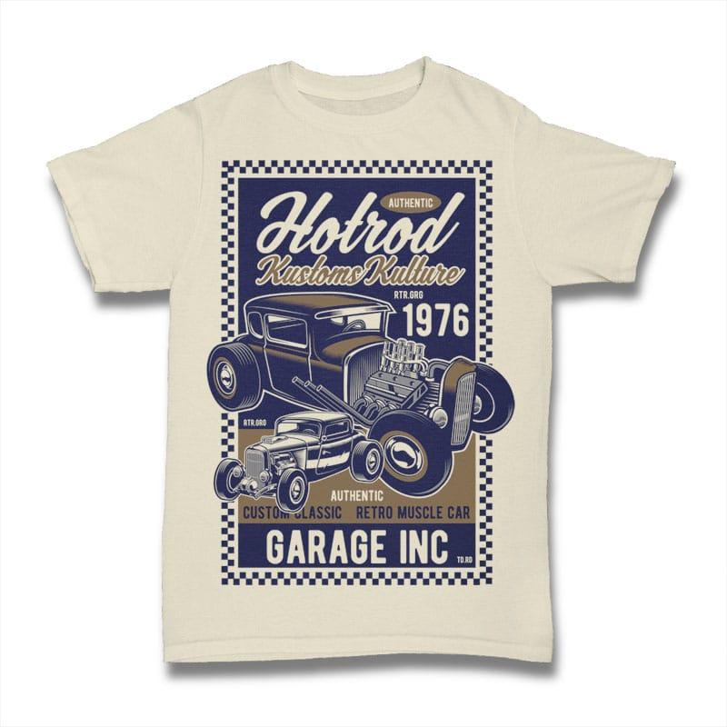 Hot Rod Kustoms Kulture t shirt designs for print on demand