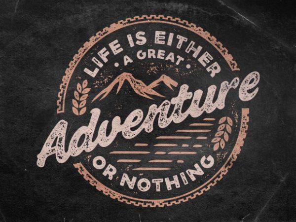 Adventure vector t-shirt design template