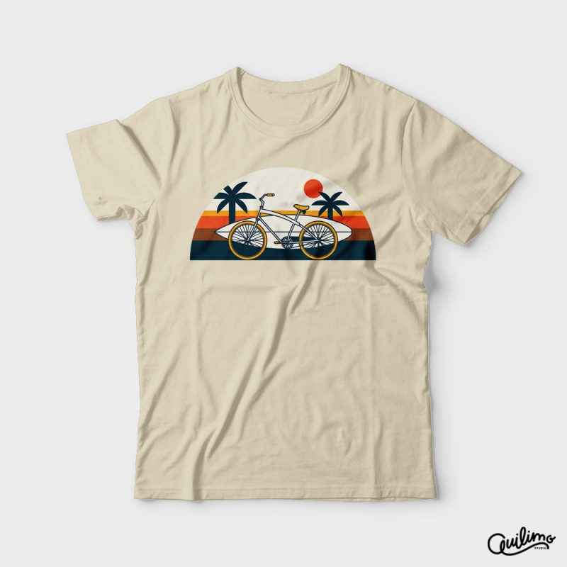 Surf Bike t shirt designs for print on demand