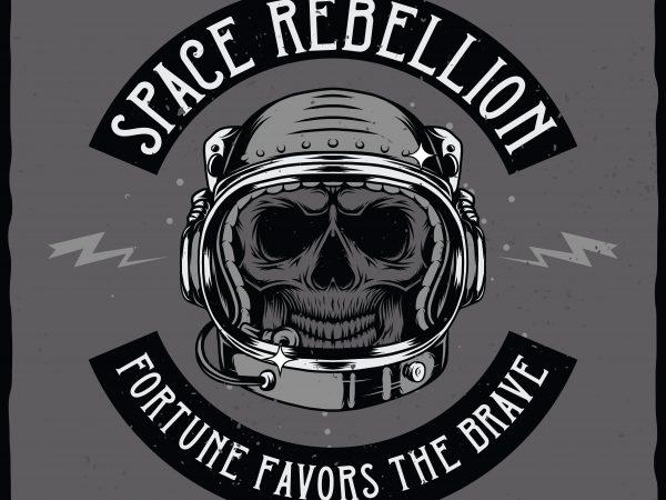 Space rebellion. Vector T-Shirt Design