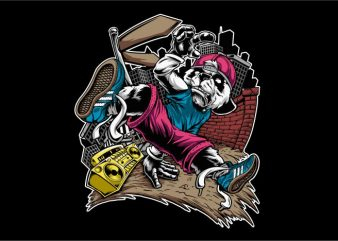 Panda Dancer t shirt illustration