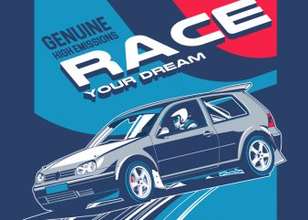 RACE vector t-shirt design for commercial use