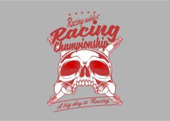 Racing Addict graphic t-shirt design