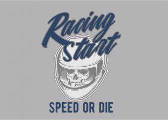 Racing Start vector t-shirt design