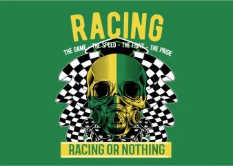 Racing or Nothing t shirt design online