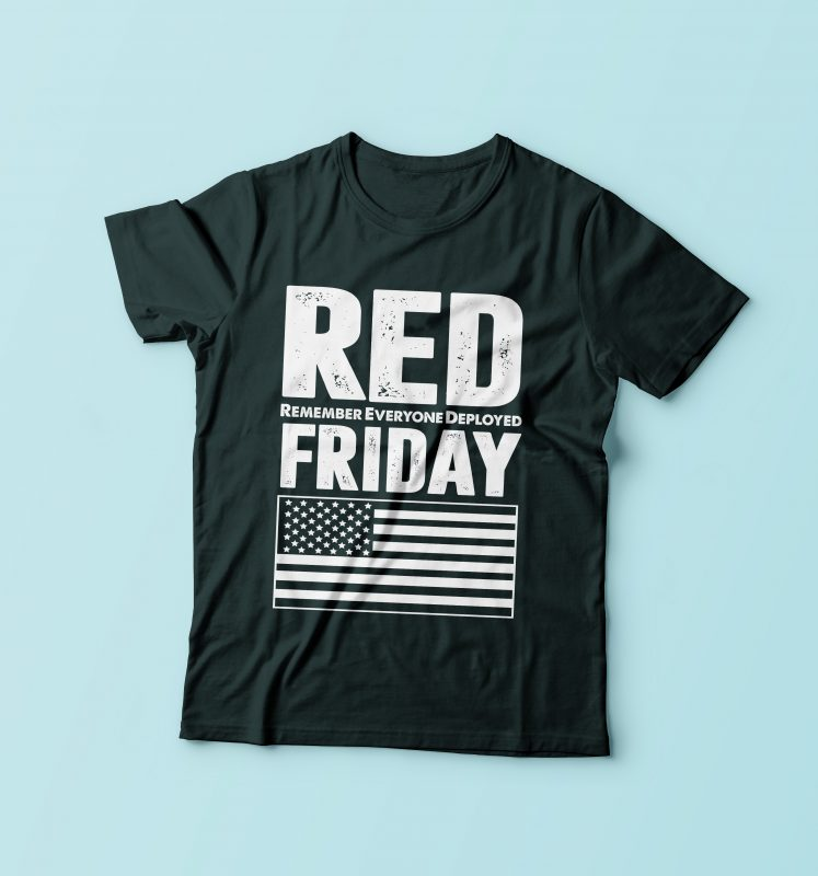 Red Friday t shirt designs for print on demand