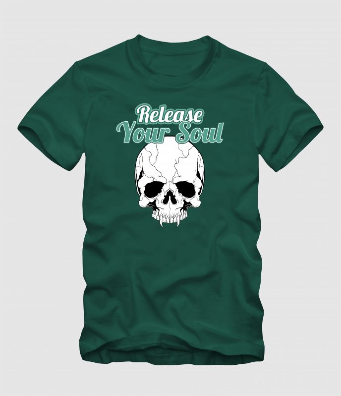 Release Your Soul t shirt designs for printful
