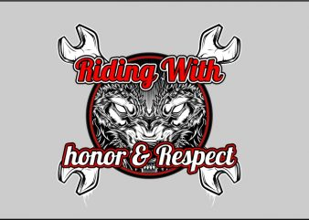 Riding with Honor & Respect t shirt design png