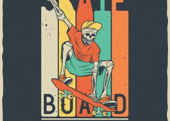 Skateboard legendary team vector t-shirt design