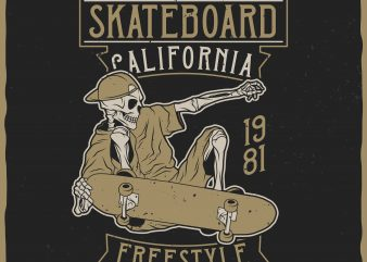 Skateboard Freestyle vector t-shirt design