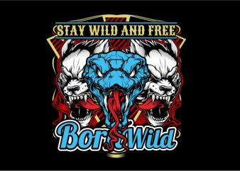 Stay Wild and Free t shirt template vector