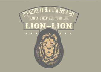 THE LION t shirt design png