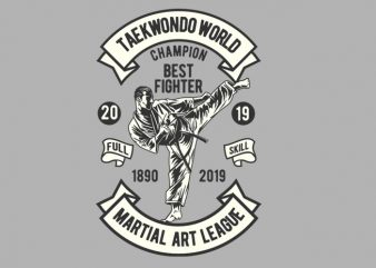 Taekwondo World Champion t shirt design for sale