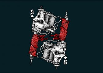 Tattoo Tools Skull t shirt design template