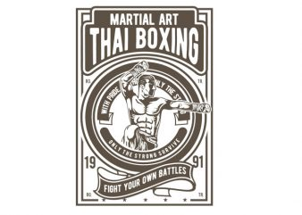 Thai Boxing t shirt designs for sale