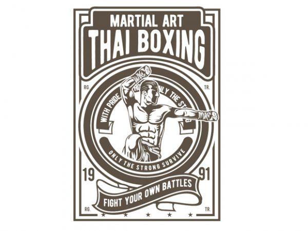 Thai Boxing t shirt designs for sale