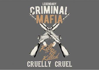 The Criminal Mafia t shirt designs for sale