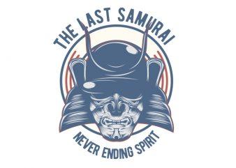 The Last Samurai t shirt designs for sale