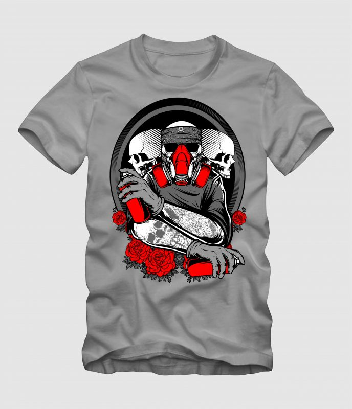 The Skull Grafity t shirt designs for teespring