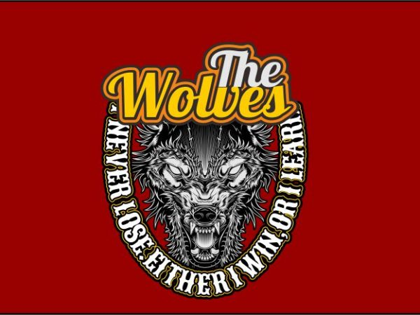 The Wolves tshirt design vector