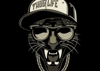 THUG LIFE commercial use t-shirt design