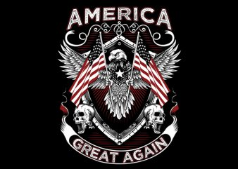 America Great t shirt vector