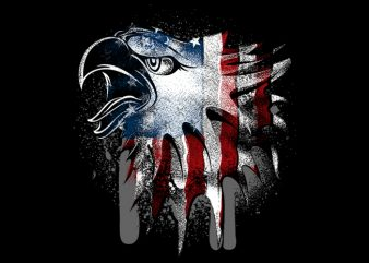 Overlay Eagle Flag t shirt design online