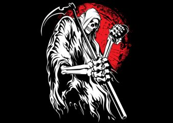 Grim reaper t shirt design template