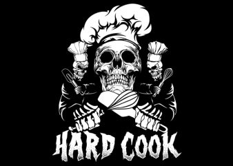 Hard Cook vector t-shirt design for commercial use