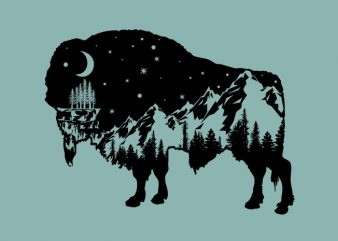 Bison t shirt design for sale