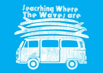 Wave are print ready vector t shirt design