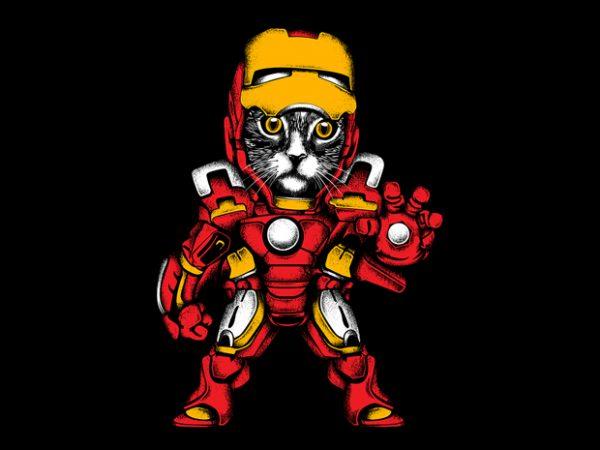 Ironcat t shirt design for sale
