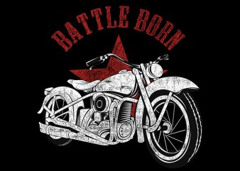 Battle Born t shirt template
