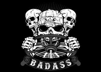 Badass Driver print ready shirt design