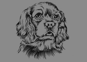 Cute Dog t shirt vector file