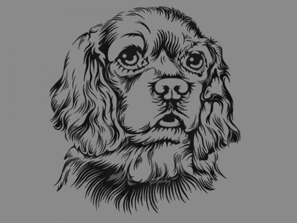 Cute Dog t shirt vector file