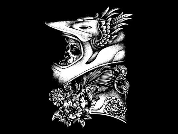 Biker Girl vector t-shirt design