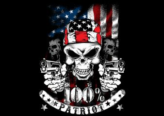 100% Patriot t shirt design for purchase