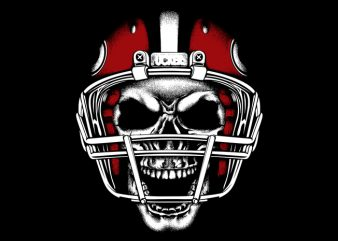 Football Head t shirt graphic design