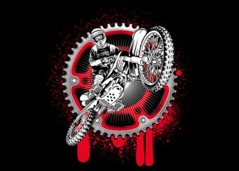 Motocrross t shirt designs for sale