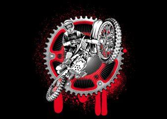 Motocrross vector t shirt design artwork