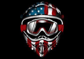 American Helmet t shirt vector